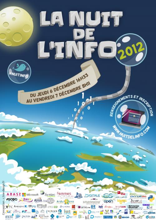 Affiche Nuit de l'Info 2012